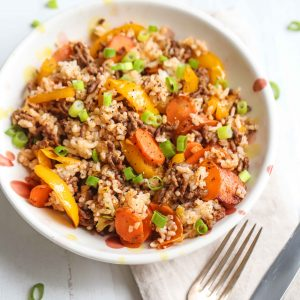 Cajun Beef and Veggie Rice Bowl